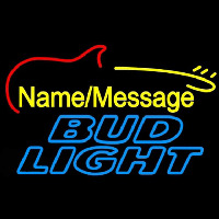 Bud Light Electric Guitar Beer Sign Neon Skilt