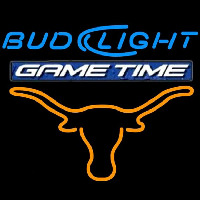 Bud Light Game Time Steer Beer Sign Neon Skilt
