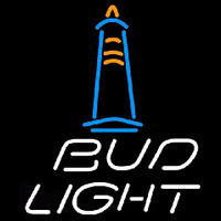 Bud Light Lighthouse Beer Sign Neon Skilt