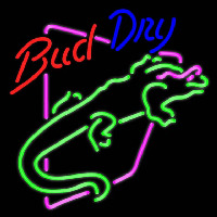 Bud Light Lizard Iguana Beer Sign Neon Skilt
