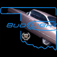 Bud Light Oklahoma Car Cadillac Beer Sign Neon Skilt