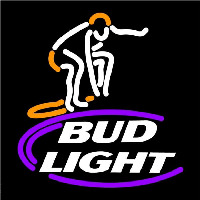 Bud Light Surfer Beer Sign Neon Skilt