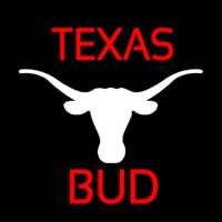 Bud Red Te as White Longhorn Beer Sign Neon Skilt