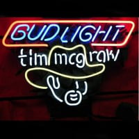 Bud Tim Mcgraw Øl Bar Neon Skilt