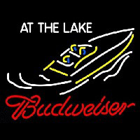 Budweiser At The Lake Neon Skilt