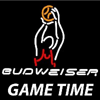Budweiser Basketball Gametime Beer Sign Neon Skilt