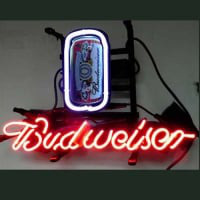 Budweiser Can Øl Bar Neon Skilt