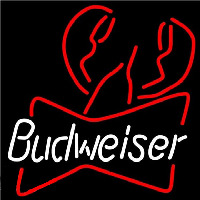 Budweiser Lobster Beer Sign Neon Skilt