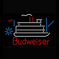 Budweiser Riverboat Beer Light Neon Skilt