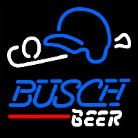 Busch Baseball Beer Sign Neon Skilt
