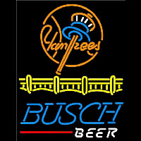 Busch Beer New York Yankees Beer Sign Neon Skilt