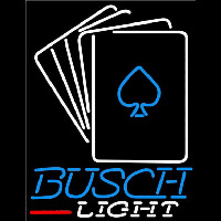 Busch Light Cards Beer Sign Neon Skilt