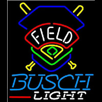 Busch Light Field Colorado Rockies Beer Sign Neon Skilt