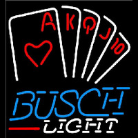 Busch Light Poker Series Beer Sign Neon Skilt
