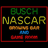 Busch NASCAR Browns Bar and Game Room Neon Skilt