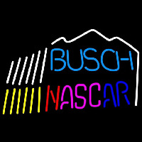 Busch Nascar mountain Beer Sign Neon Skilt