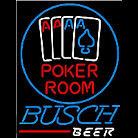 Busch Poker Room Beer Sign Neon Skilt