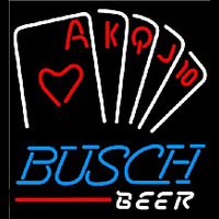 Busch Poker Series Beer Sign Neon Skilt