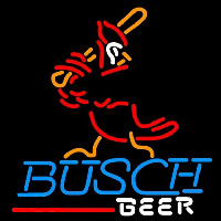 Busch St Louis Cardinals Batter Beer Sign Neon Skilt