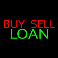 Buy Sell Loan Neon Skilt