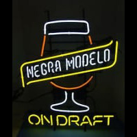 CERVEZA NEGRA MODELO ON DRAFT Neon Skilt