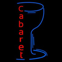 Cabaret With Wine Glass Neon Skilt