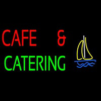 Cafe And Catering Neon Skilt