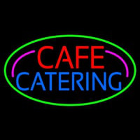 Cafe Catering Neon Skilt