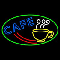 Cafe With Coffee Mug Neon Skilt
