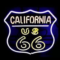 California Route 66 Åben Neon Skilt