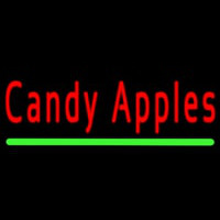 Candy Apples Neon Skilt