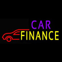 Car Finance With Car Neon Skilt