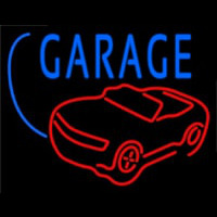 Car Logo Garage Block Neon Skilt