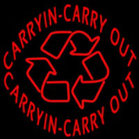 Carry In Carry Out Neon Skilt