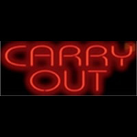Carry Out Barbeque Neon Skilt