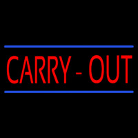 Carry Out Neon Skilt