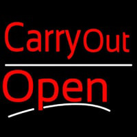 Carry Out Open Neon Skilt