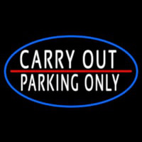 Carry Out Parking Only Neon Skilt