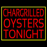 Chargrilled Oysters Tonight Neon Skilt