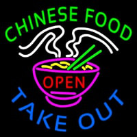 Chinese Food Open Take Out Neon Skilt