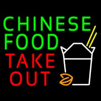 Chinese Food Take Out Neon Skilt
