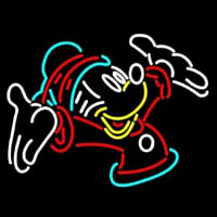 Christmas Mickey Mouse Neon Skilt