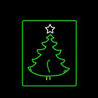 Christmas Tree Logo Neon Skilt