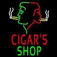 Cigars Shop With Logo Neon Skilt