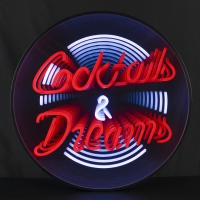 Cocktails Dreams 3D Infinity LED Neon Sign