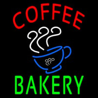 Coffee Bakery With Coffee Cup Neon Skilt