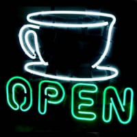 Coffee Shop Open Sign Øl Bar Neon Skilt
