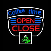 Coffee Time Open Close Neon Skilt