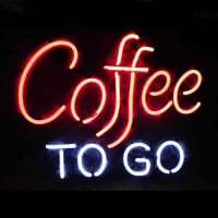Coffee To Go Restaurant Sign Øl Bar Neon Skilt