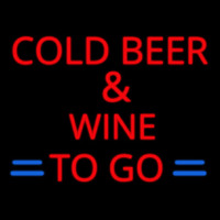 Cold Beer And Wine To Go Neon Skilt
